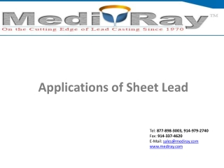 Applications of sheet lead - MedirayTM