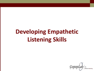 Developing Empathetic Listening Skills