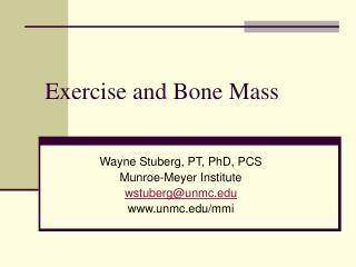 exercise and bone mass