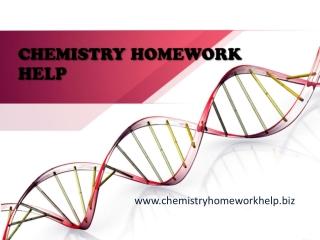 Chemistry Homework Help