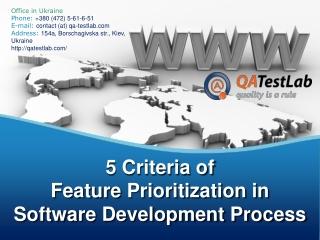 5 Criteria of Feature Prioritization in Software Development
