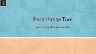 Paraphrase Tool