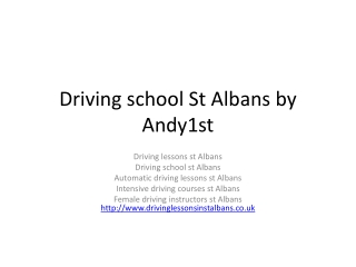 Driving school St Albans by Andy1St | Driving lessons |