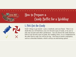 How To Prepare A Candy Buffet For A Wedding