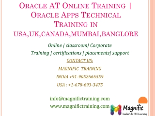 Oracle AT Online Training  Oracle Apps Technical Training in