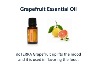 Get Grapefruit Essential Oil Today