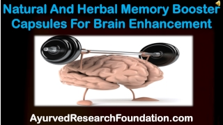 Natural And Herbal Memory Booster Capsules For Brain Enhance