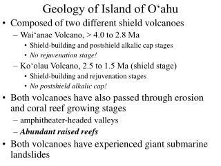 geology of island of o ahu