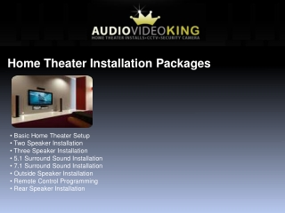 Home Theater Installer