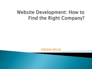 Website Development: How to Find the Right Company?