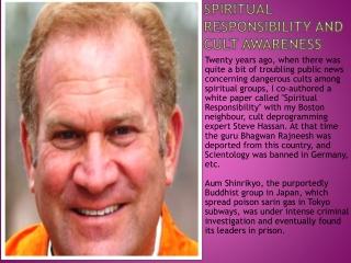 Spiritual Responsibility and Cult Awareness