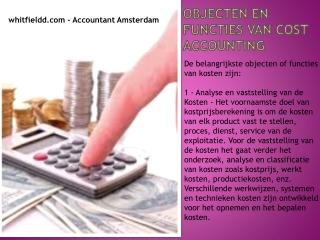 Objecten en functies van Cost Accounting