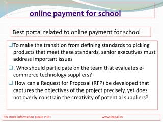 Best portal for online payment for school