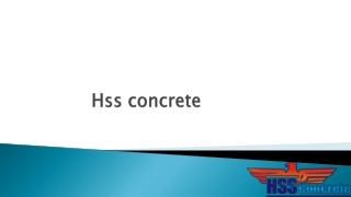 HSS Concrete Au