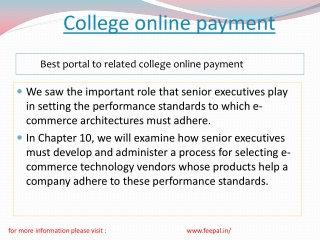 Read some points about college online payment