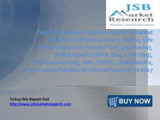 JSB Market Research: Next Generation Sequencing (NGS) Market