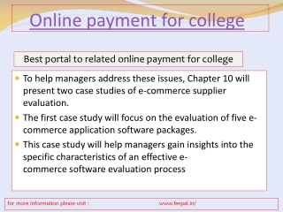 Best Solution of Online Payment for College