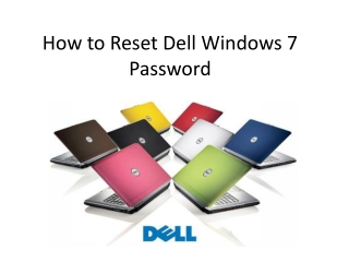 Flexible Way to Reset Dell Windows 7 Login Password