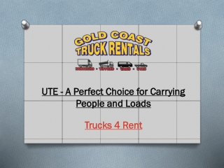 UTE - A Perfect Choice for Carrying People and Loads