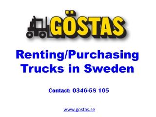Renting/Purchasing Trucks in Sweden