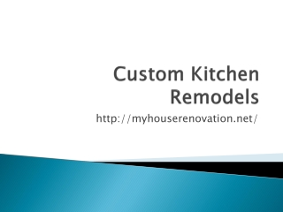 Custom Kitchens Remodels