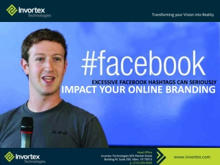 Facebook And Hashtags | Digital Marketing | Invortex technol