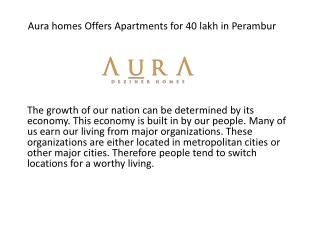 Apartments for 40 lakhs in Perambur