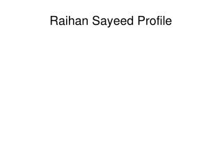 Raian Sayeed