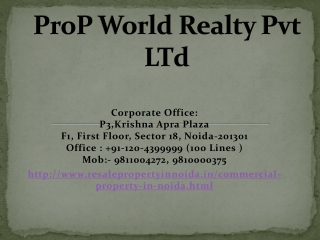 Commercial Property In Noida, Commercial Office Space In Noi