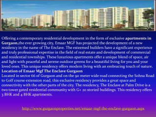Emaar Mgf The Enclave Gurgaon
