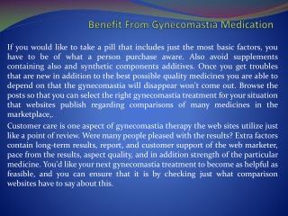 gynecomastia cure