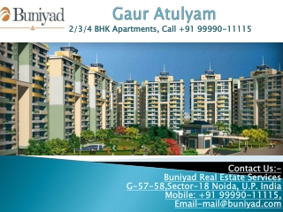 Gaur Atulyam by Gaursons Developer in Greater Noida