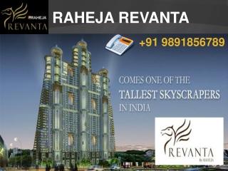 Raheja Revanta - Sector 78 - Gurgaon 9891856789 1/2 BHK Apt