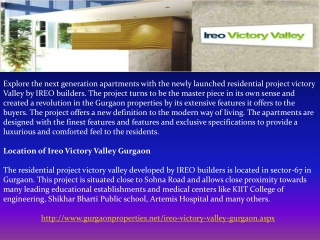 Ireo Victory Valley in Gurgaon
