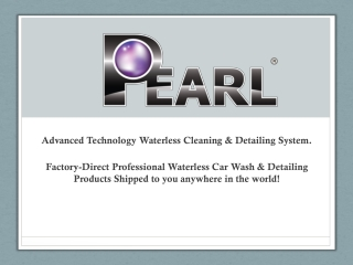 Pearl Waterless Car Wash -  Cars - Motors - Presentation