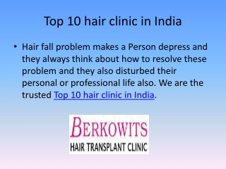 Genuine Hair Loss Clinic in Delhi