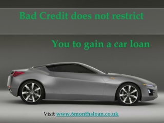Online Auto Loan Bad Credit