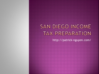 San Diego Income Tax Preparation | PnL Company