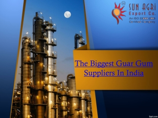 The Biggest Guar Gum Suppliers In India