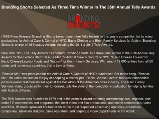 Branding Shorts Selected As Three Time Winner