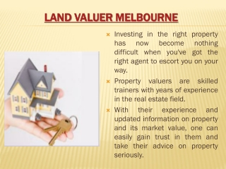Land Valuations Melbourne