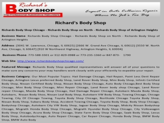 Richards Body Shop Chicago ,North, Arlington Heights