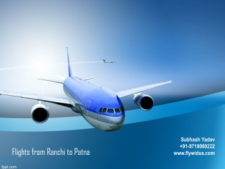 Flights from Ranchi to Patna