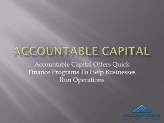 Accountable Capital