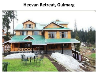 hotel, hotels, Heevan, Retreat, Gulmarg, accommodation, rese