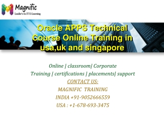 Oracle APPS Technical Course Online Training in usa,uk and s