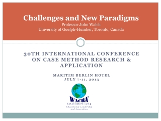 Challenges and New Paradigms