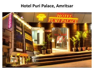 Book Hotel Puri Palace in Amritsar