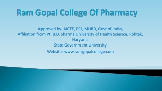 B. Pharmacy Admission college in Gurgaon