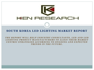 Increasing Demand for Energy Saving Lighting Products to Dri